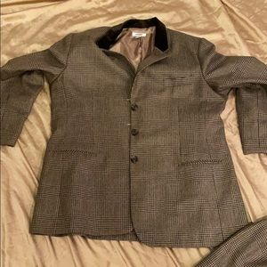 Talbots brown houndstooth suit